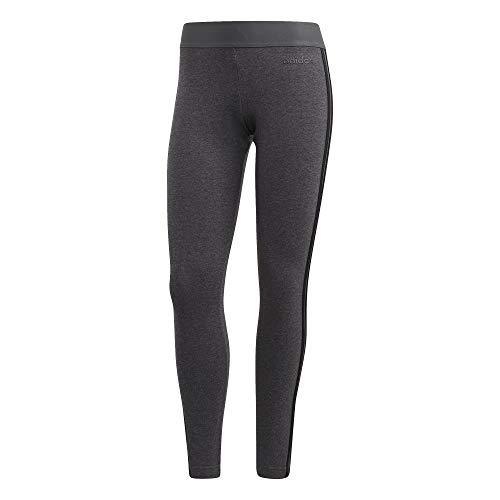 adidas W E 3s Tight Mallas, Mujer, Dark Grey Heather/Black, S