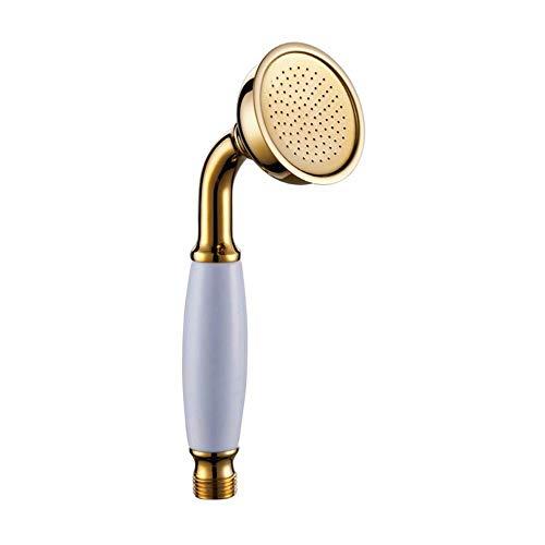 Alcachofa de ducha portátil de cobre chapado en oro, estilo europeo, estilo C, color dorado