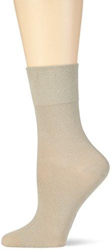 Nur Die Damen Feine Komfort  Strick Socken,  Grau (beigegrau 586),  35/38