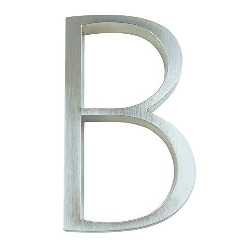 KSHYE 12 cm Casa de Plata números Señalización 0-9 Letras del Alfabeto 5 Pulgadas Números Puerta Dash Slash Sign Sign Door Door Number Outdoor Dirección (Color : B, Size : 12cm House Number)
