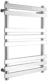 GLYYR Heated Towel Rail 304 Stainless Steel Bathroom Flat Panel Radiator Polished 740× 520× 120 Mm