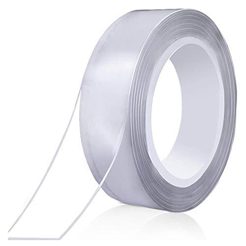 Kldfig Magic Nano-Tape transparant, dubbelzijdig, gel, antislip, sterk, universeel, afneembaar, 500 x 3 cm