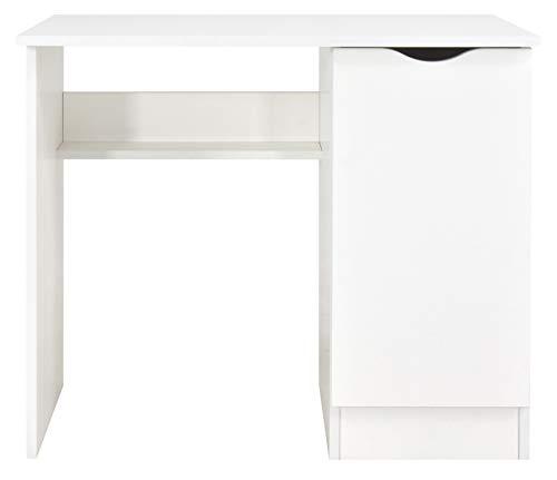 Leomark Weiß Kinderschreibtisch - Roma - Gemütlich Schreibtisch für Kinder mit Regal, Möbel für Kinderzimmer, Höhe: 77 cm