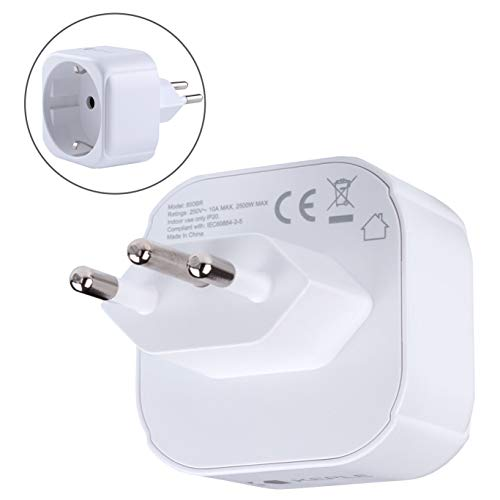 Brazil / South Africa African SA Adapter Viaggi Plug Tipo N to a EU Europe European Tipo C E F Presa Socket Adaptor per Spain France Italy Italian IT Germany Greece Adattatore Internazionale 3 Pin