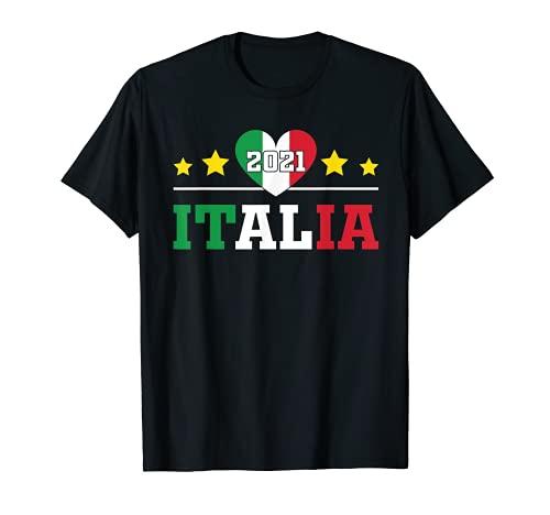 Fußball Italien 2021 Italienische Flagge Fanartikel Fahne T-Shirt