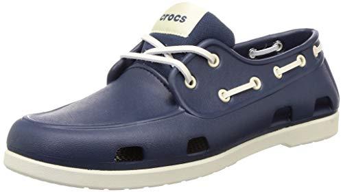 CROCS Classic Boat Shoe M, Sandalias Tiempo Libre y Sportwear Hombre, Multicolor (Navy/Stucco), 43 EU