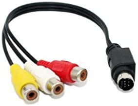 10inch S-Video 7-Pin Mini-DIN Male to 3 RCA Female Cable