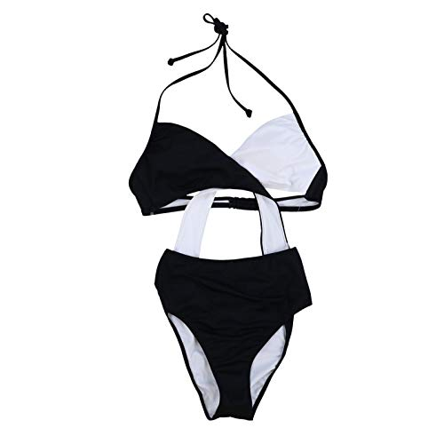 Victoria's Secret Pink One Piece Monokini Swim Suit (L, Black White)