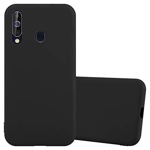 Cadorabo Funda para Samsung A60 / M40 en Candy Negro - Cubierta Proteccíon de Silicona TPU Delgada e Flexible con Antichoque - Gel Case Cover Carcasa Ligera