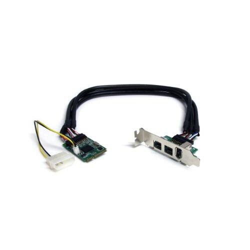 Startech.Com Scheda Adatattore Mini PCI Express Firewire 2B 1A 1394 a 3 Porte