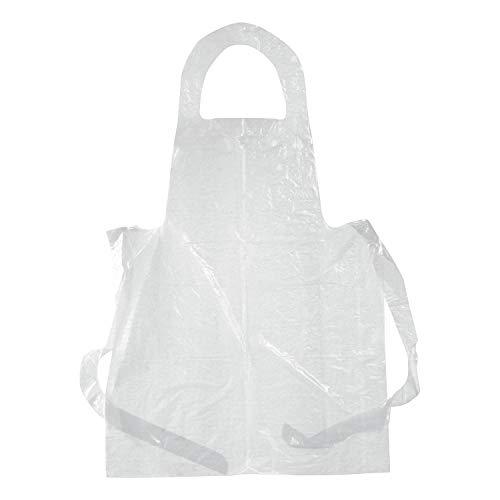 100 piezas Delantales Desechables Plástico Impermeable Antipolvo para Cocinar Pintura Suministros