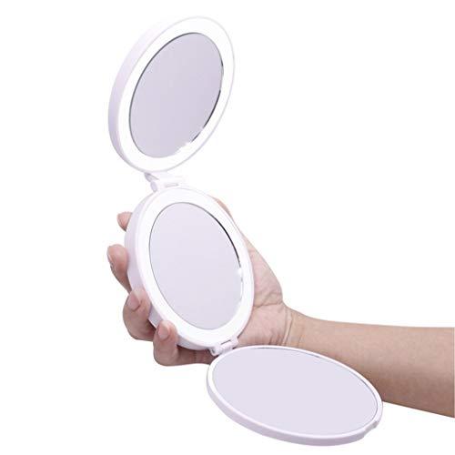LED compacto espejo del maquillaje de grandes estupendos cosmético del bolsillo con...