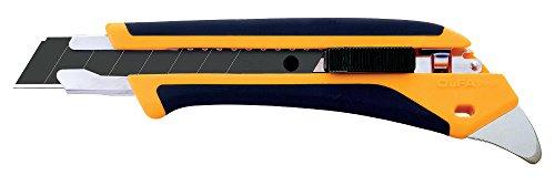 OLFA L5-AL - Cúter con bloqueo automático, mango antideslizante, púa de metal duro y cuchilla de 18 mm