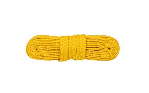 WorkerWalker Flache Schnürsenkel für Sicherheitsschuhe, aus strapazierfähiger Modacryl-Baumwollfasermischung, STR Laces PRO, 1 Paar (16 - Gelb/130 cm - 51 inch)