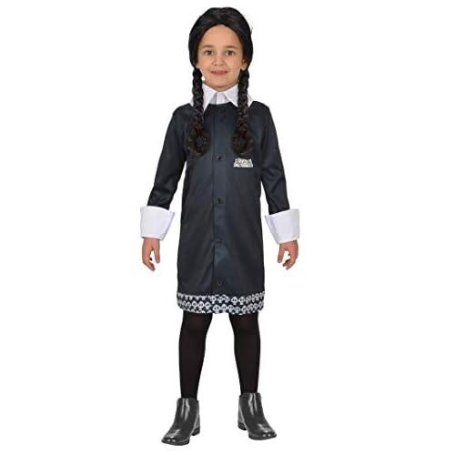 Ciao-Costume Mercoledì Addams Family, 8-10 anni Ragazza, Nero, 11143.8-10