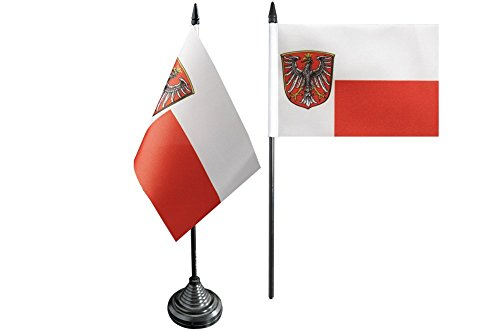 Tischflagge / Tischfahne Deutschland Stadt Frankfurt + gratis Aufkleber, Flaggenfritze®