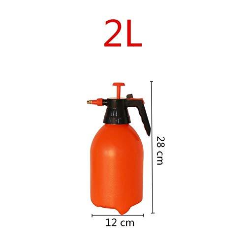 2l/3l Orange Hand Pressure Trigger Atomizer, Adjustable Copper Nozzle, Manual Air Compression Head, Pump Spray Bottle, 1 You. 3L