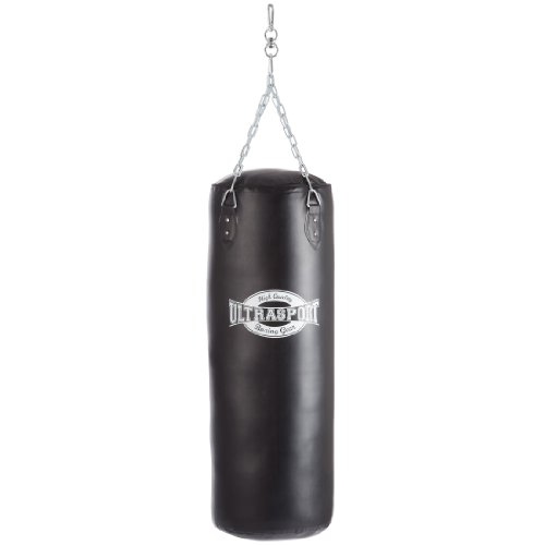 Ultrasport Equipement de boxe Sac de boxe 100 cm vinyle noir