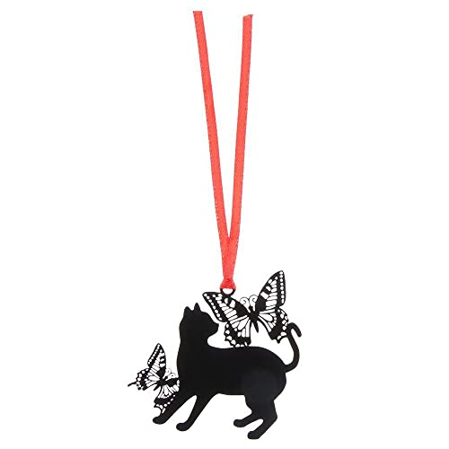 LZHLMCL Regalo De Marcador Marcador De Gato Hueco De Metal Negro Marcador De Animales Profesores Estudiantes Regalo Oficina Papelería Escolar H
