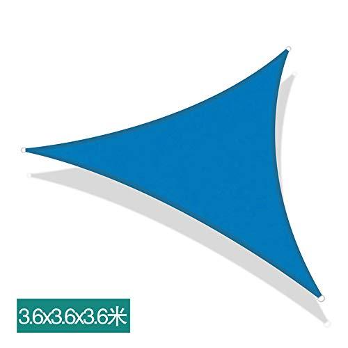 JASSXIN Sun Sonnensegel, Garten Terrasse, Balkon, Markise, Breathable Shade Dispenser, Dreieck Wasserdicht Geeignet Für Garten Balkon Terrasse 3M, 3,6 M, 5M,3.6 x 3.6 x 3.6 m