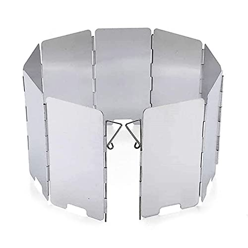 TYPHEERX Parabrisas, 9 Placas de Aluminio Mini Parabrisas para Al Aire Libre Bbq Picnic Equipo de Camping