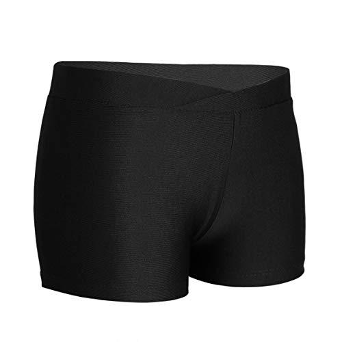 CHICTRY Pantalones Cortos Deportivos para Niña Leggings Camuflaje Ropa Deporte Pantalón Deporte para Correr Jogging Ftness Ejercicio Negro 8-10 años