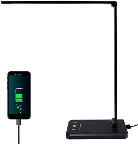 LED Desk Lamps with USB Charging Port Battery Operated Desk Lamps Adjustable Eye Protecting product image