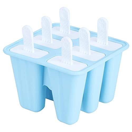 Emoshayoga Moldes antiadherentes para paletas Moldes para paletas heladas para pudín(6 Sticks)