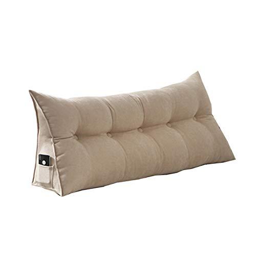 Sarah Duke Dreieckige Keil Kissen, bettsitzkissen Kissen Rückenkisse Polstermöbel, Bett-Rückenstütze Keilform, für Sofa Bett Couch Wohn und Schlafzimmer (Beige,60 X 20 X 50cm)