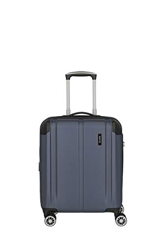 Travelite City Bagage à Main avec Extension Taille S avec Petite Trousse de Toilette 4 roulettes Doubles avec Cadenas à Combinaison 40-45 l Bleu Marine s
