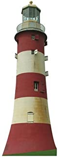 Wet Paint Printing + Design H20225 Plymouth Lighthouse Cardboard Cutout Standup