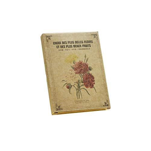 1 lot de 24 cartes postales littéraires avec message de bénédiction, carte vintage peinte à la main Motif plantes Atlas Fleurs
