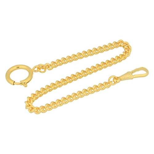 Catena orologio da tasca PUREgrey placcata in oro