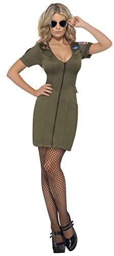 Smiffys, Damen Sexy Top Gun Kostüm, Kleid, Top Gun, Größe: S, 39450