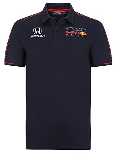 Red Bull Honda レッドブル レーシング F1 [EURO SPORTS別注] ホンダ ロゴ入り シーズナル ポロシャツ (XS:着丈70cm身幅46cm)
