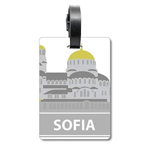 Sofia Taschen-Anhänger mit grauem Wahrzeichen-Muster, Reisegepäck