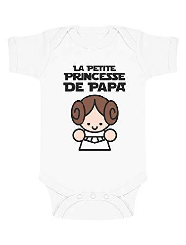 Green Turtle Cadeau Père Fille - Princesse De Papa Body Bébé Manche Courte 6-9 Mois Blanc