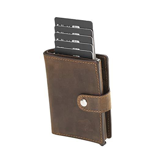 Solo Pelle Slim Wallet für 15 Karten + Geldscheine + Kleingeld geeignet | Kredi...