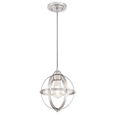 Westinghouse Lighting 6362000 Stella Mira One-Light Mini, Brushed Nickel Finish Indoor Pendant, 1