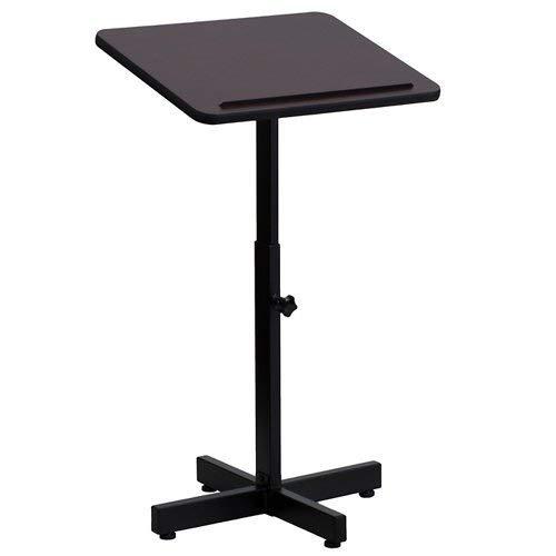 Flash Furniture Adjustable Lectern Mahogany