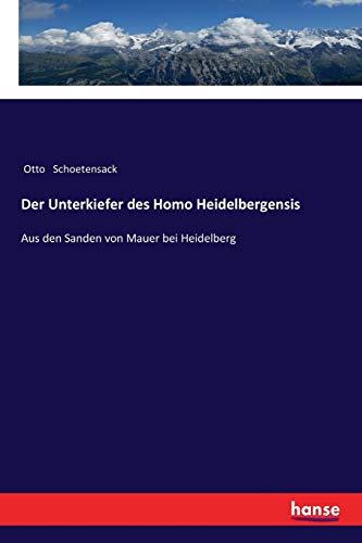 Der Unterkiefer des Homo Heidelbergensis: Aus den Sanden von Mauer bei Heidelberg (German Edition)