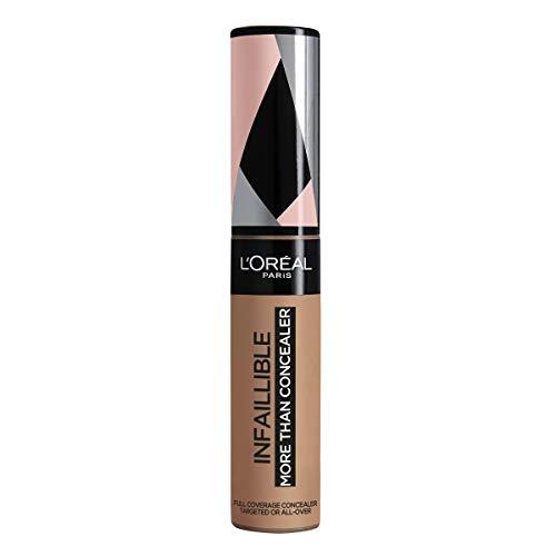 L'Oréal Paris Infaillible More Than Concealer Nr. 337 Almond, hochpigmentierter Concealer mit hoher Deckkraft und extra großem Applikator, 11 ml