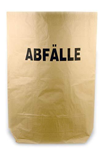 Hypafol Bio Papier Müllbeutel | abbaubare braune Biomüllbeutel für kompostierbare & biologische Abfälle & Papier | ohne Plastik | 2-lagig, Tüten mit 120 L | 700x950+220 mm, Aufdruck