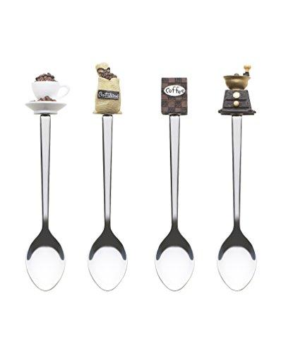 Excelsa Lollypop Löffel Kaffee, Stahl, Mehrfarbig, 13x 3x 3cm