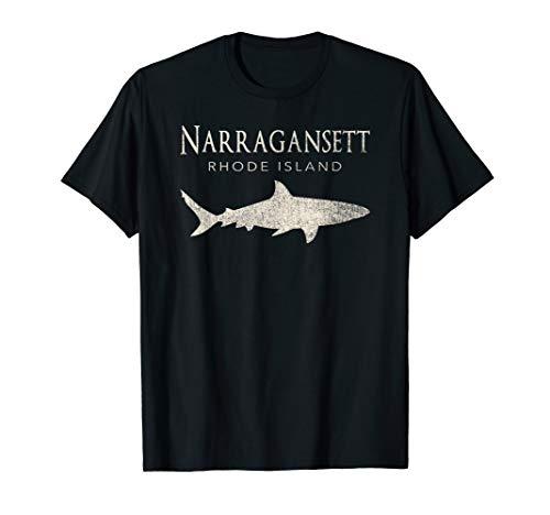 Retro Narragansett RI Shark T-Shirt