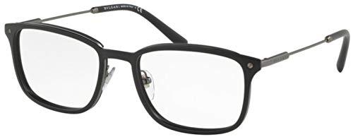 Bulgari Unisex volwassenen 0BV 1101 195 54 zonnebril, zwart (mat zwart),