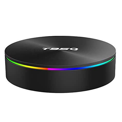 Kaxofang Cine en Casa Caja de TV T95Q 4Gb 32Gb Reproductor Set-Top Box Multimedia Inteligente Android 9.0 4K TV (Enchufe de la UE)
