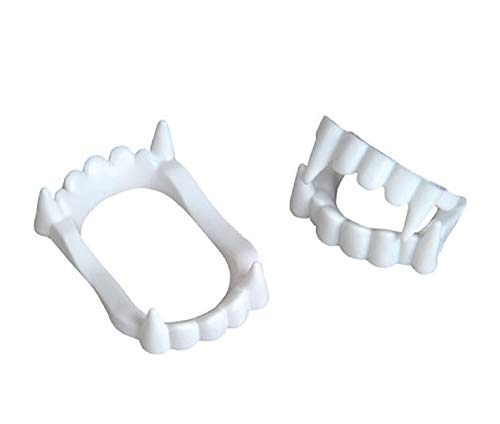 Oasis Supply, Halloween Dress Up, Scary Mouth Pieces, Halloween Accessory, (White Vampire Fangs)
