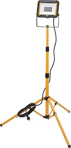 Brennenstuhl Stativ LED Strahler JARO 5000 T / LED Baustrahler mit Stativ für außen (IP65, 5m Kabel, 50W, mit Kabelhalterung und Rohrspannmuttern)