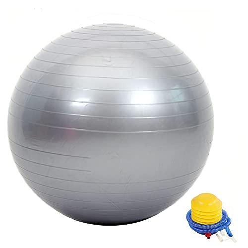 Pelota de fitness de alta calidad, gruesa, antideflagrante, antideslizante, con bomba de aire, apta para deportes de interior o asientos de oficina, etc. (75, gris)